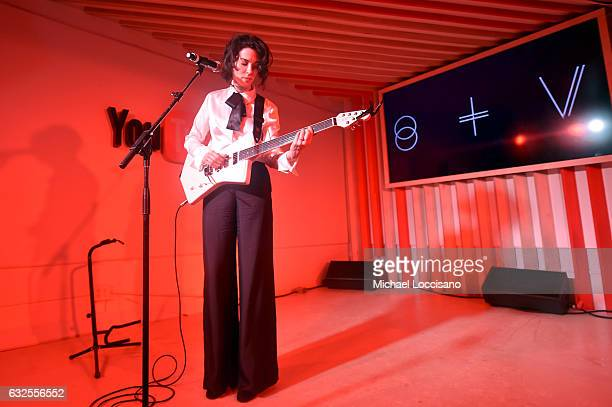 Recording artist St Vincent performs onstage at the YouTube Music Showcase Event With St Vincent on January 23 2017 in Park City Utah