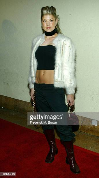 Recording artist Stacy Ferguson attends the launch party for the new reality series 'In Crowd TV' at the Sunset Room on March 21 2003 in Hollywood...
