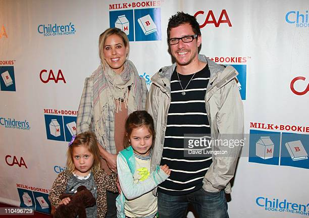 Recording artist Stefan Lessard of Dave Matthews Band and family wife Jaclyn Burton and daughters Flora Lessard and Hazel Lessard attend the 2nd...