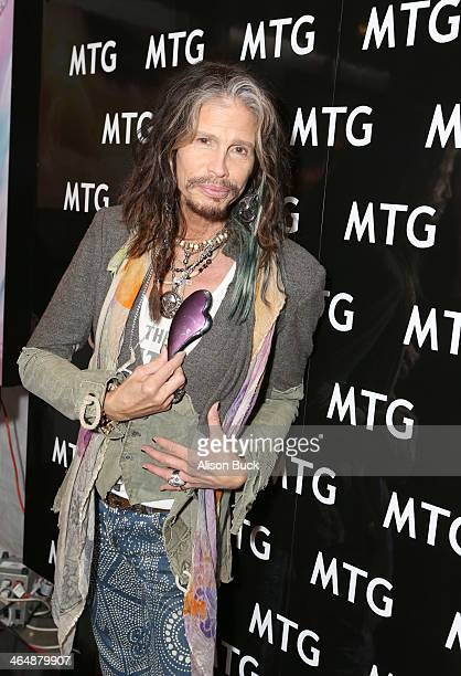 Recording artist Steven Tyler attends the GRAMMY Gift Lounge during the 56th Grammy Awards at Staples Center on January 24 2014 in Los Angeles...
