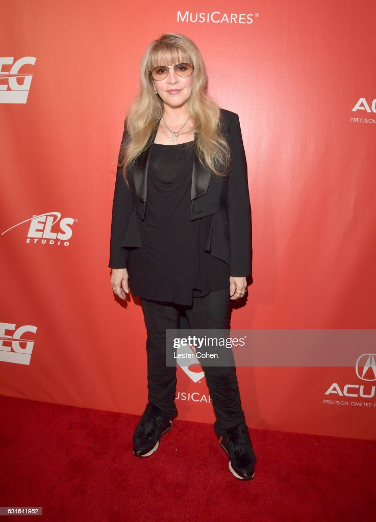 Recording artist Stevie Nicks attends MusiCares Person of the Year honoring Tom Petty at the Los Angeles Convention Center on February 10, 2017 in Los Angeles, California.