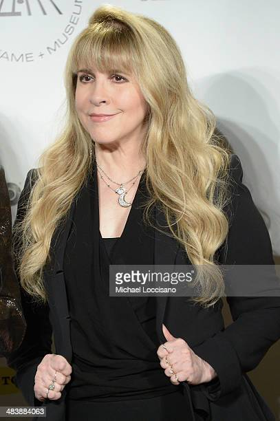 Recording artist Stevie Nicks attends the 29th Annual Rock And Roll Hall Of Fame Induction Ceremony at Barclays Center of Brooklyn on April 10 2014...