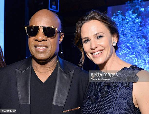 Recording artist Stevie Wonder and honoree Jennifer Garner attend the Fifth Annual Baby2Baby Gala Presented By John Paul Mitchell Systems at 3LABS on...
