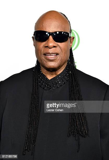 Recording artist Stevie Wonder attends Global Green USA's 13th annual preOscar party at Mr C Beverly Hills on February 24 2016 in Los Angeles...