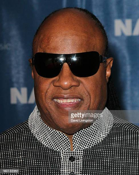 Recording artist Stevie Wonder attends the 2013 NAMM Show - Day 3 at the Anaheim Convention Center on January 26, 2013 in Anaheim, California.