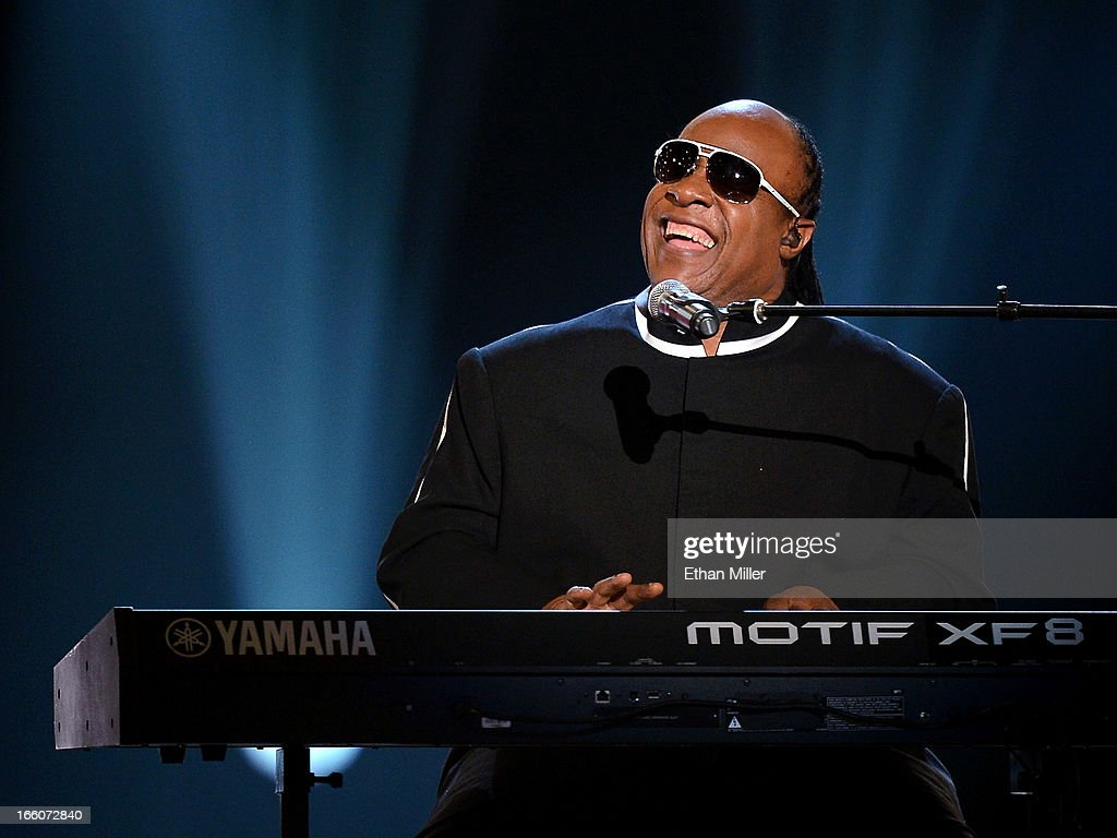 Recording artist Stevie Wonder performs during the 48th Annual Academy of Country Music Awards at the MGM Grand Garden Arena on April 7, 2013 in Las Vegas, Nevada.