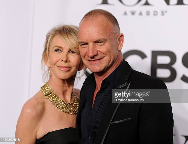 Recording artist Sting and actress Trudie Styler attend the 68th Annual Tony Awards at Radio City Music Hall on June 8 2014 in New York City