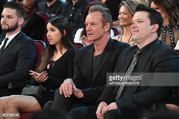 Recording artist Sting attends the 2016 American Music Awards at Microsoft Theater on November 20 2016 in Los Angeles California