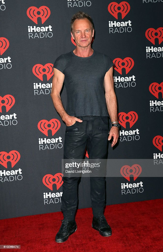 Recording artist Sting attends the 2016 iHeartRadio Music Festival Night 2 at T-Mobile Arena on September 24, 2016 in Las Vegas, Nevada.