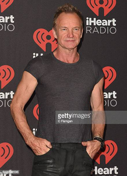 Recording artist Sting attends the 2016 iHeartRadio Music Festival Night 2 at TMobile Arena on September 24 2016 in Las Vegas Nevada