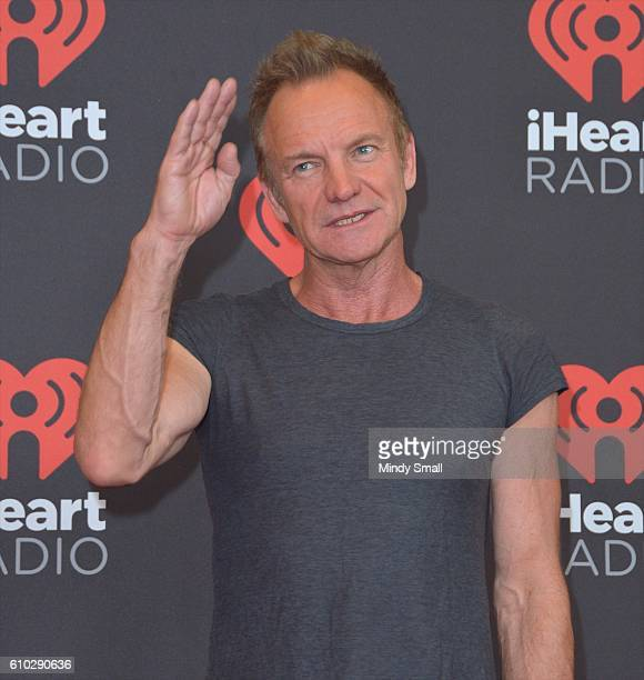 Recording artist Sting attends the 2016 iHeartRadio Music Festival at TMobile Arena on September 24 2016 in Las Vegas Nevada