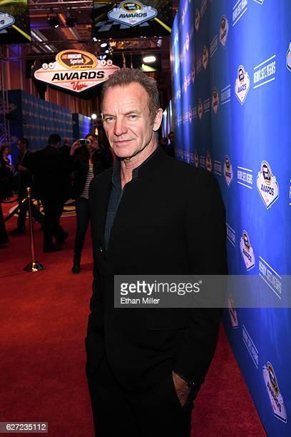 Recording artist Sting attends the 2016 NASCAR Sprint Cup Series Awards at Wynn Las Vegas on December 2 2016 in Las Vegas Nevada