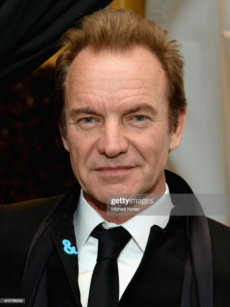 Recording artist Sting attends the 25th Annual Elton John AIDS Foundation's Academy Awards Viewing Party at The City of West Hollywood Park on February 26, 2017 in West Hollywood, California.