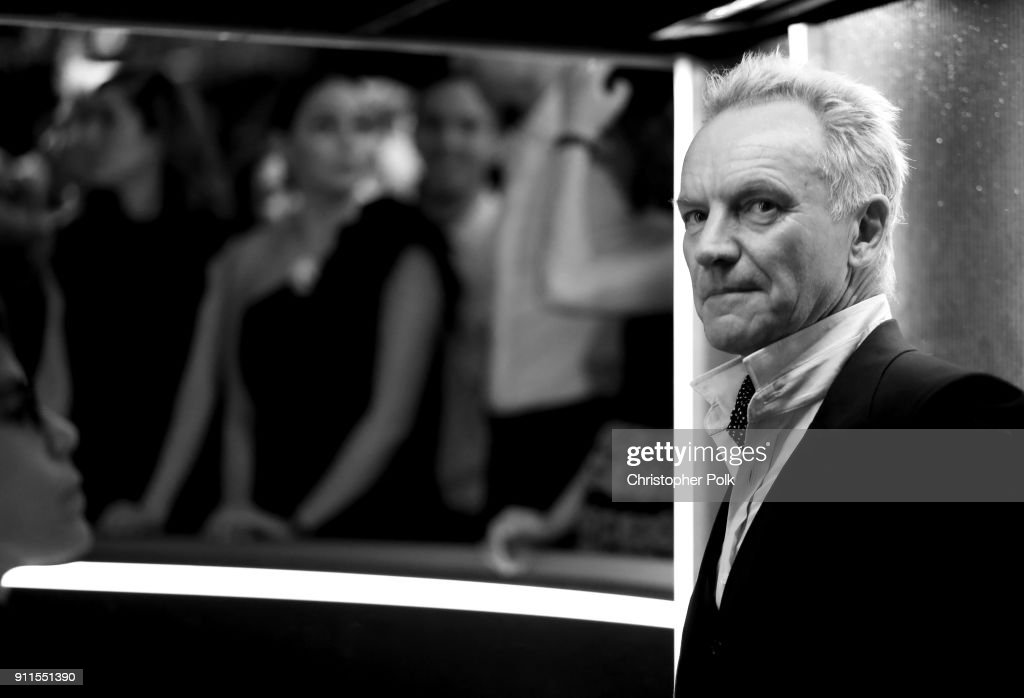 Recording artist Sting attends the 60th Annual GRAMMY Awards at Madison Square Garden on January 28, 2018 in New York City.