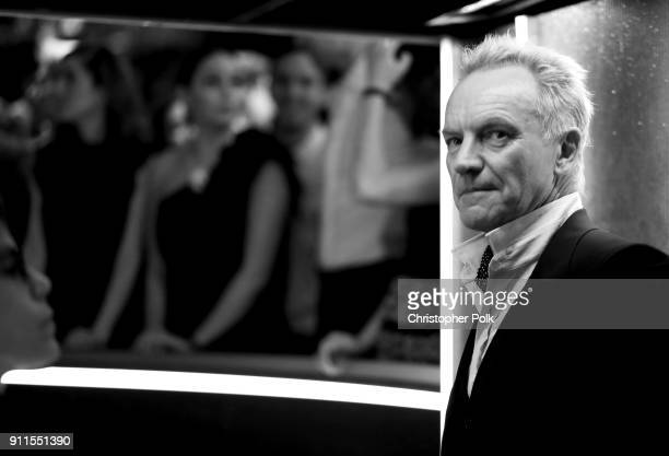 Recording artist Sting attends the 60th Annual GRAMMY Awards at Madison Square Garden on January 28 2018 in New York City
