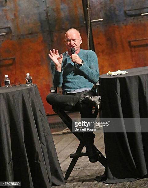 Recording artist Sting attends The New Yorker Festival 2014 The Last Ship Panel at the Neil Simon Theater on October 11 2014 in New York City