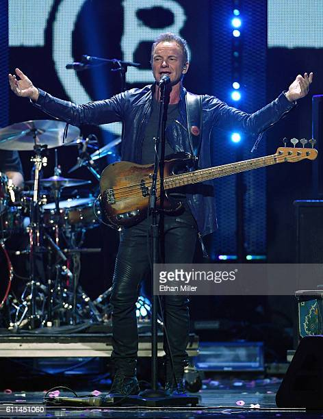 Recording artist Sting performs at the 2016 iHeartRadio Music Festival at TMobile Arena on September 24 2016 in Las Vegas Nevada