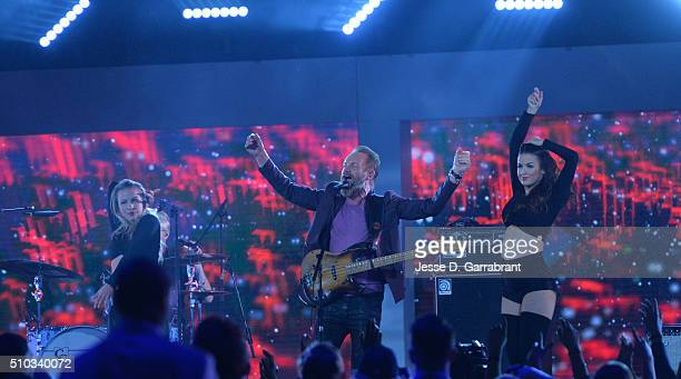 Recording Artist Sting performs during halftime during the NBA AllStar Game as part of the 2016 NBA All Star Weekend on February 14 2016 at the Air...