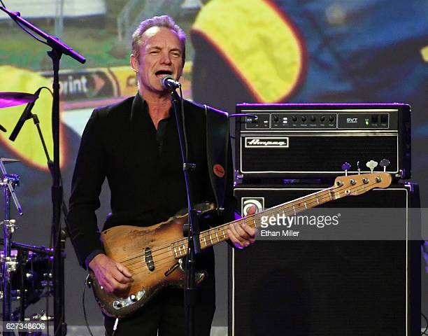 Recording artist Sting performs during the 2016 NASCAR Sprint Cup Series Awards show at Wynn Las Vegas on December 2 2016 in Las Vegas Nevada