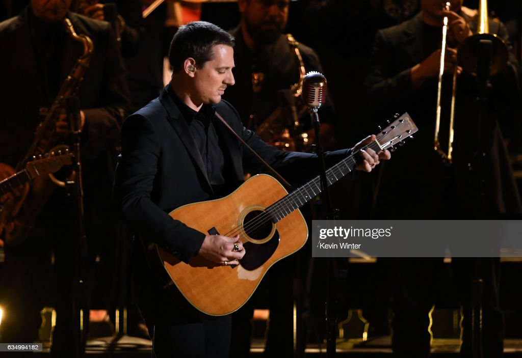 Recording artist Sturgill Simpson performs onstage during The 59th GRAMMY Awards at STAPLES Center on February 12, 2017 in Los Angeles, California.