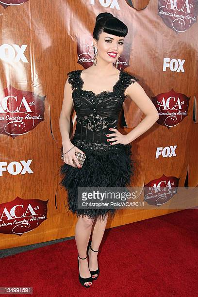 Recording artist Susie Brown of The JaneDear Girls arrives at the American Country Awards 2011 at the MGM Grand Garden Arena on December 5 2011 in...