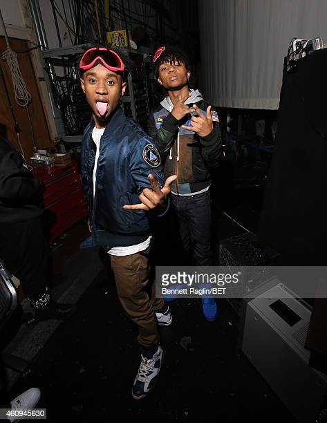 Recording artist Swae Lee and Slim Jimmy of Rae Sremmurd attends 106 Party at BET studio on December 12 2014 in New York City