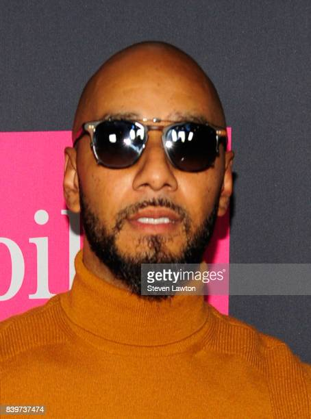 Recording artist Swizz Beatz attends the VIP party before the boxing match between boxer Floyd Mayweather Jr and Conor McGregor at TMobile Arena on...