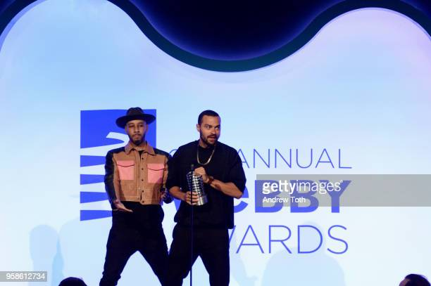 Recording Artist Swizz Beatz presents award to Jesse Williams onstage at The 22nd Annual Webby Awards at Cipriani Wall Street on May 14 2018 in New...
