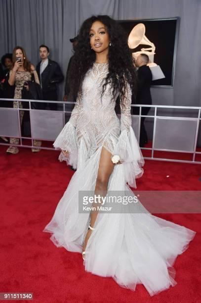 Recording artist SZA attends the 60th Annual GRAMMY Awards at Madison Square Garden on January 28 2018 in New York City