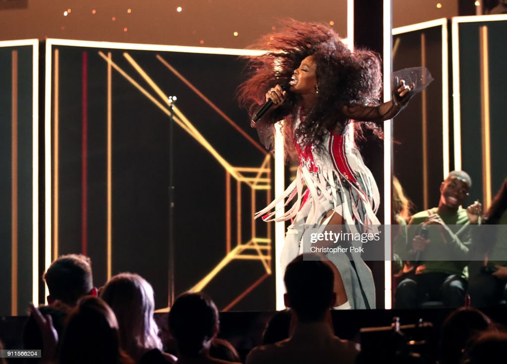 Recording artist SZA performs onstage at the 60th Annual GRAMMY Awards at Madison Square Garden on January 28, 2018 in New York City.