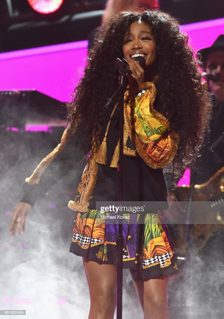 Recording artist SZA performs onstage during 60th Annual GRAMMY Awards - I'm Still Standing: A GRAMMY Salute To Elton John at the Theater at Madison Square Garden on January 29, 2018 in New York City.