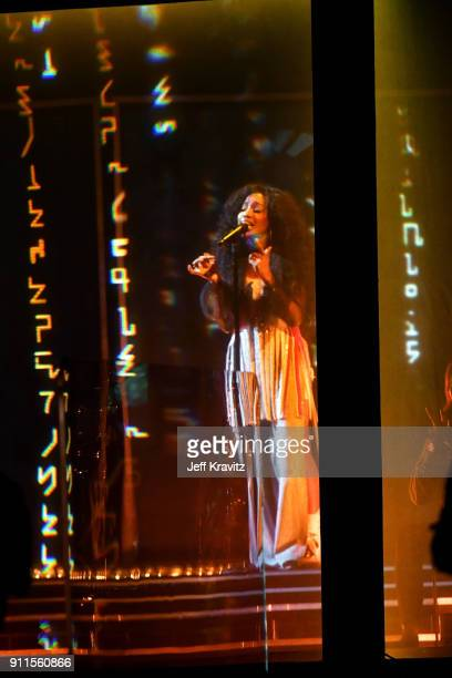 Recording artist SZA performs onstage during the 60th Annual GRAMMY Awards at Madison Square Garden on January 28 2018 in New York City