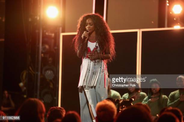 Recording artist SZA performs onstage the 60th Annual GRAMMY Awards at Madison Square Garden on January 28 2018 in New York City