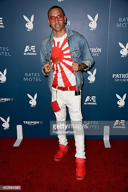 Recording artist Taboo of music group Black Eyed Peas attends Playboy and AE 'Bates Motel' Event during ComicCon International 2014 on July 25 2014...