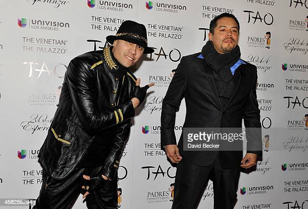 Recording artist Taboo of The Black Eyed Peas and singer Andy Vargas arrive at the Padres Contra El Cancer's 14th annual El Sueno de Esperanza...