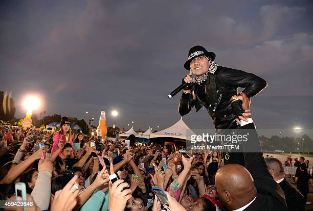 Recording artist Taboo of The Black Eyed Peas performs onstage during iHeartRadio Fiesta Latina La Villita presented by Chase at The Forum on...