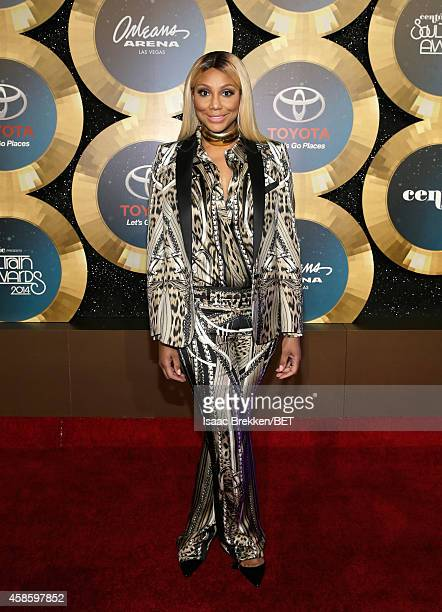 Recording artist Tamar Braxton attends the 2014 Soul Train Music Awards at the Orleans Arena on November 7 2014 in Las Vegas Nevada