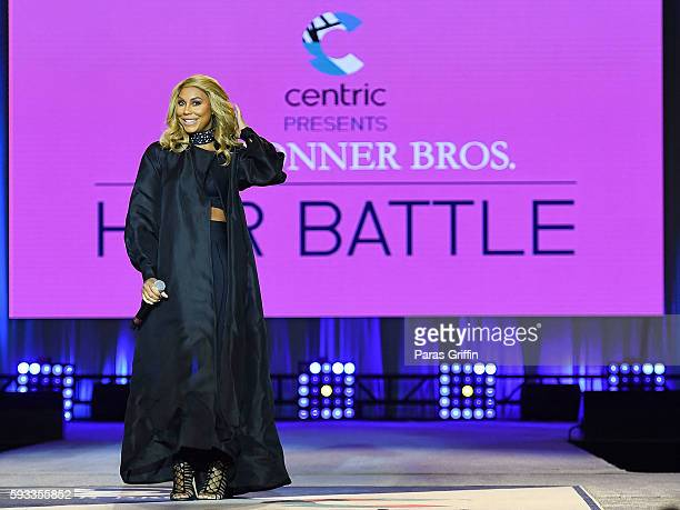 Recording artist Tamar Braxton onstage at Centric Presents Bronner Bros Hair Battle at Georgia World Congress Center on August 21 2016 in Atlanta...
