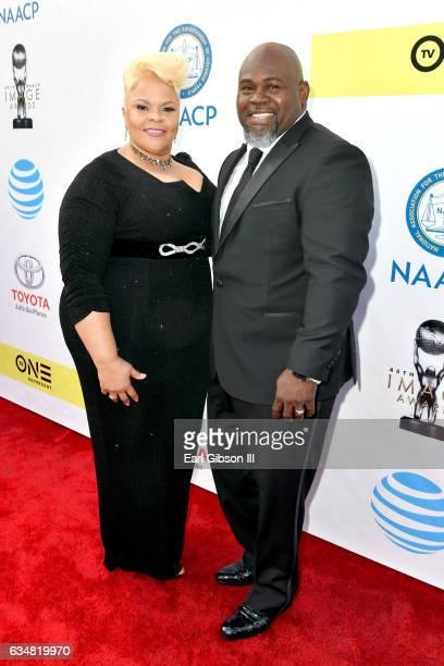 Recording artist Tamela Mann and David Mann attend the 48th NAACP Image Awards at Pasadena Civic Auditorium on February 11 2017 in Pasadena California