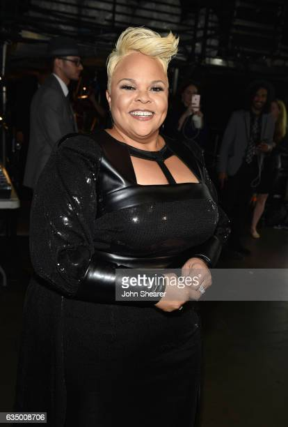 Recording artist Tamela Mann attends The 59th GRAMMY Awards at STAPLES Center on February 12 2017 in Los Angeles California
