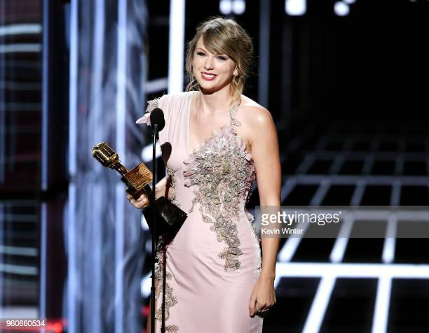 Recording artist Taylor Swift accepts the Top Female Artist award onstage during the 2018 Billboard Music Awards at MGM Grand Garden Arena on May 20...