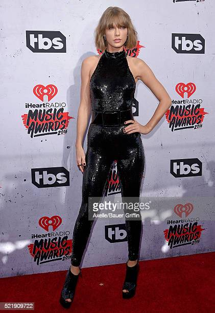 Recording artist Taylor Swift arrives at iHeartRadio Music Awards on April 3 2016 in Inglewood California