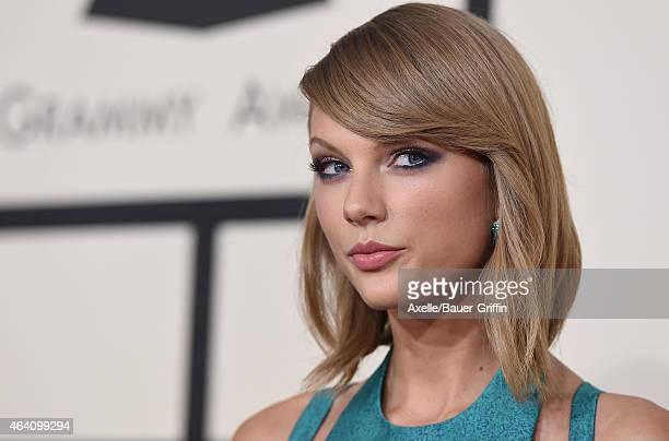 Recording artist Taylor Swift arrives at the 57th Annual GRAMMY Awards at Staples Center on February 8 2015 in Los Angeles California