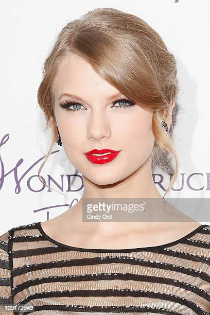 Recording artist Taylor Swift attends her Wonderstruck fragrance launch at Macy's Herald Square on October 13 2011 in New York City