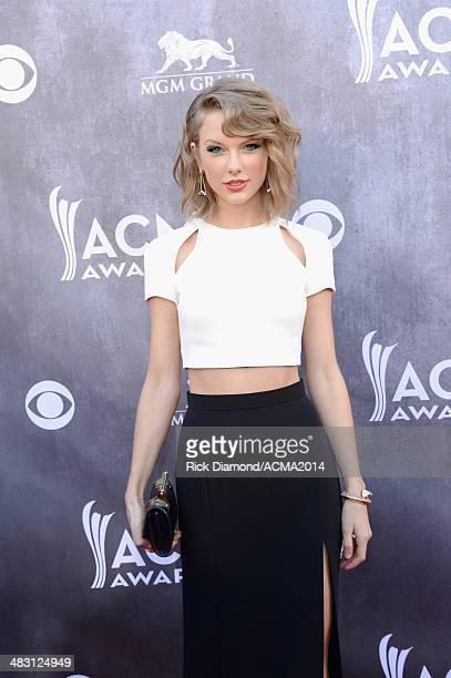 Recording artist Taylor Swift attends the 49th Annual Academy of Country Music Awards at the MGM Grand Garden Arena on April 6 2014 in Las Vegas...