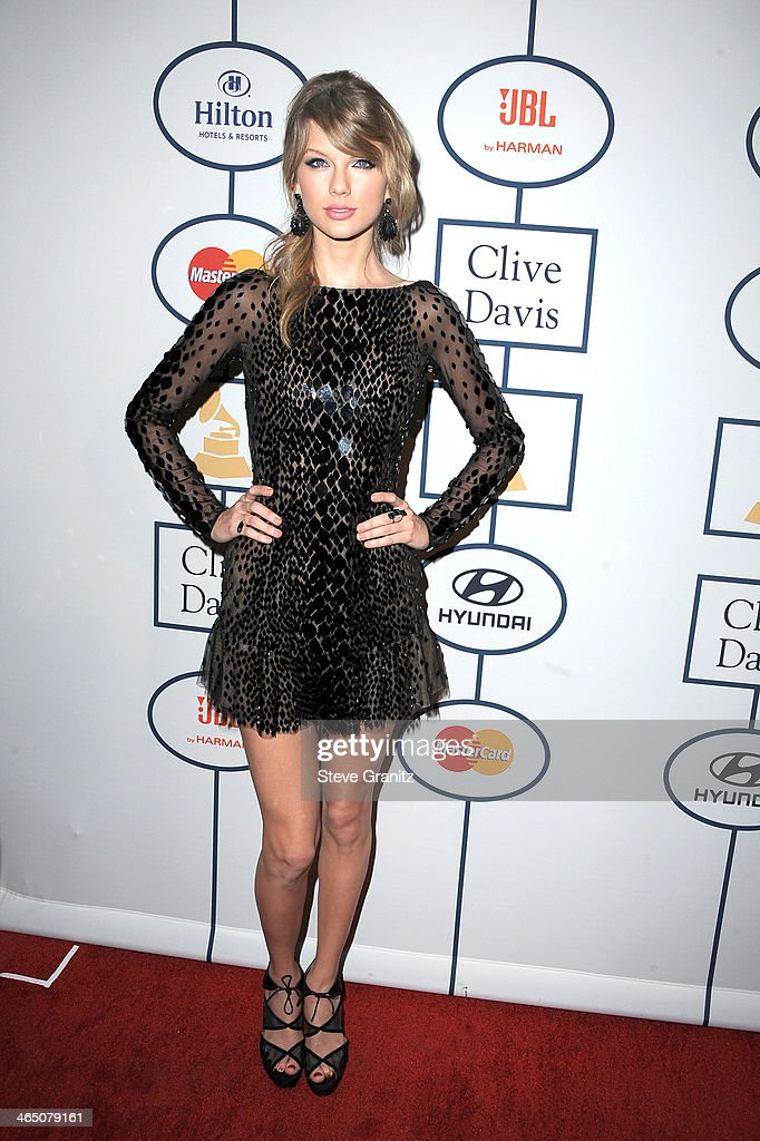 Recording artist Taylor Swift attends the 56th annual GRAMMY Awards Pre-GRAMMY Gala and Salute to Industry Icons honoring Lucian Grainge at The Beverly Hilton on January 25, 2014 in Los Angeles, California.
