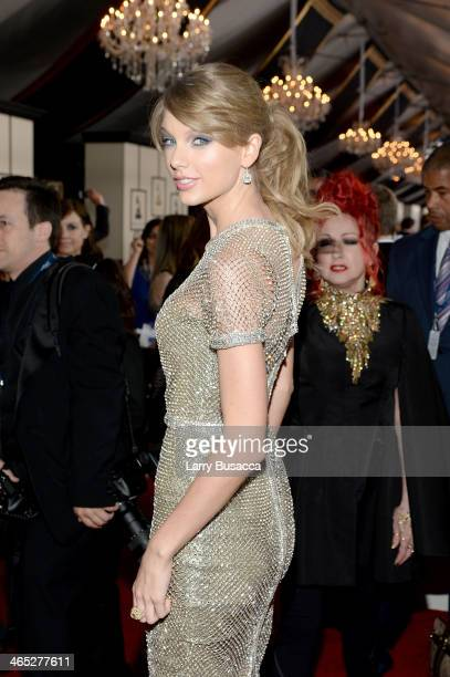 Recording artist Taylor Swift attends the 56th GRAMMY Awards at Staples Center on January 26 2014 in Los Angeles California