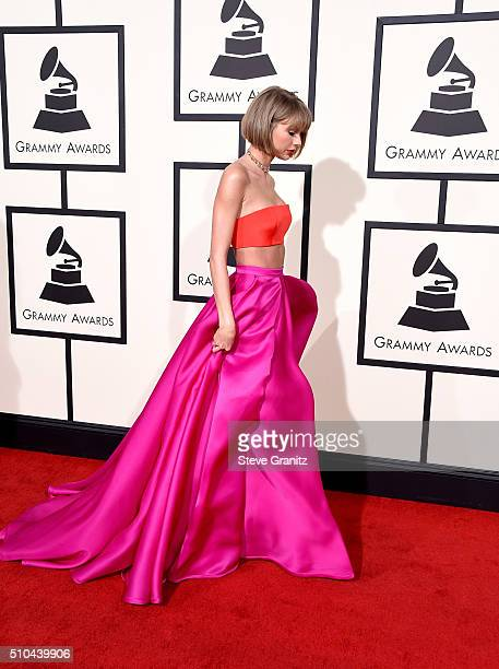 Recording artist Taylor Swift attends The 58th GRAMMY Awards at Staples Center on February 15 2016 in Los Angeles California