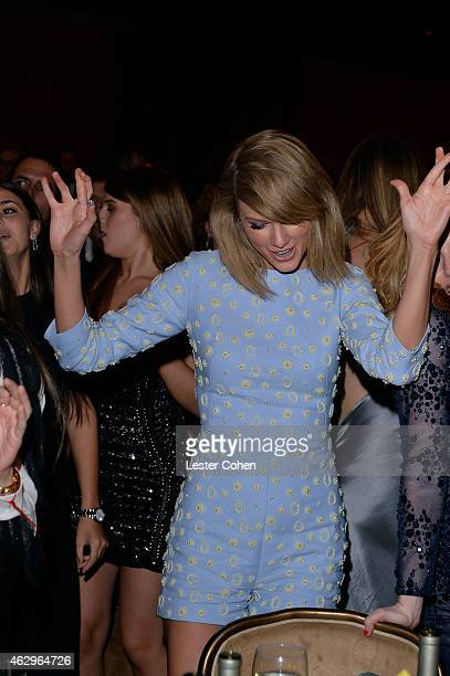 Recording artist Taylor Swift attends the Pre-GRAMMY Gala and Salute to Industry Icons honoring Martin Bandier at The Beverly Hilton Hotel on...