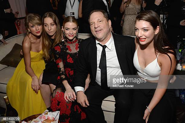Recording artist Taylor Swift musician Este Haim actress Jaime King producer Harvey Weinstein and recording artist Lorde attend The Weinstein...